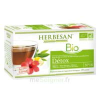 Herbesan Infusion Bio Tisane Détox 20 Sachets à MULHOUSE