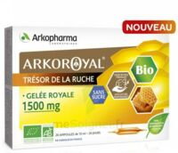 Arkoroyal Gelée royale bio sans sucre 1500mg Solution buvable 20 Ampoules/10ml à MULHOUSE