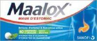 MAALOX HYDROXYDE D'ALUMINIUM/HYDROXYDE DE MAGNESIUM 400 mg/400 mg Cpr à croquer maux d'estomac Plq/40 à MULHOUSE