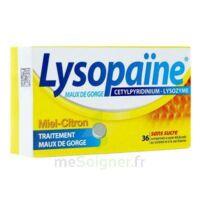 LYSOPAÏNE Comprimés à sucer maux de gorge miel citron sans sucre 2T/18 à MULHOUSE