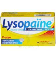 LYSOPAÏNE MAUX DE GORGE CETYLPYRIDINIUM LYSOZYME FRAISE SANS SUCRE, comprimé à sucer édulcoré au sorbitol et à la saccharine à MULHOUSE