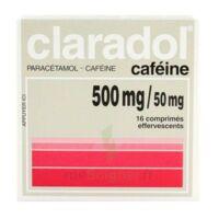 CLARADOL CAFEINE 500 mg/50 mg, comprimé effervescent à MULHOUSE