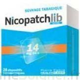 NICOPATCHLIB 14 mg/24 h Dispositifs transdermiques B/7 à MULHOUSE